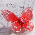 "Butterfly - 1"" Red"