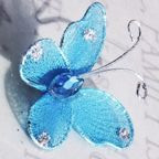 "Butterfly - 1"" Turquoise Blue"