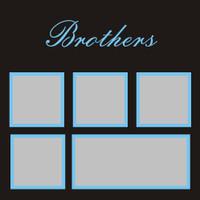 Brothers - 12x12 Overlay