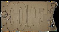 Golf Chipboard Album - Man Player