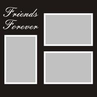Friends Forever - 12x12 Overlay