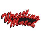 Wrestling Match 2 Color Laser Design