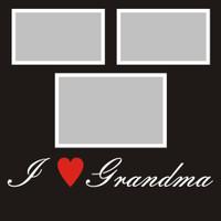 I Heart Grandma - 12x12 Overlay