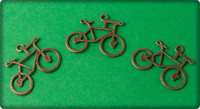 Bicycle Charm - Antique Brass