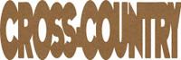 "CrossCountry  -  Chipboard Word - 2 1/2"" x 7 1/2"""