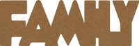 "Family  -  Chipboard Word - 2 1/2"" x 7 1/2"""