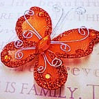 """Butterfly - 2"""" Red"""
