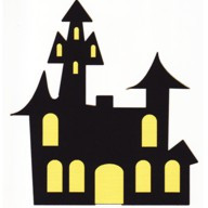 "Haunted House - 2 Color - 4 1/2"" x 3 1/2"""