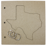 "Texas Chipboard Album - 4 Pages - 8"" x 8"""