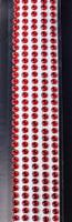 """Sleek Strips 12"""" Rhinestones- Red"""