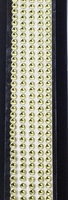 """Sleek Strips 12"""" Rhinestones- Yellow"""