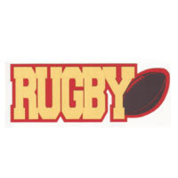 Rugby 3 Color Laser Die Cut