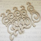 Dalton Chipboard Embellishments - Pack of 4