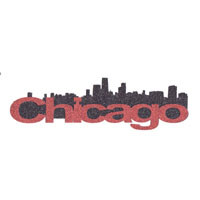 Chicago Skyline Title Strip - Glitter!