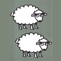 Sheep - Outline Design - Package of 2