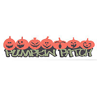 Pumpkin Patch Laser Title Strip - 3 Color!