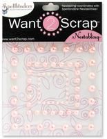 Nestabling Beaded Square Pink Pearl