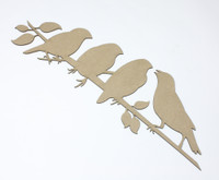 Birds of a Feather - Chipboard Embellishment