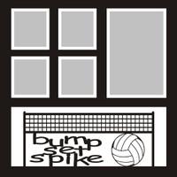 bump set spike - 12x12 Volleyball Overlay