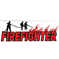 Firefighter with Flames Title Strip