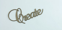 Create - Fancy Chipboard Word
