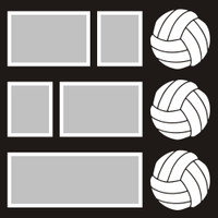 Volleyballs - 12x12 Overlay
