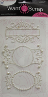 Nestabling Fancy Tags Three - White Pearl