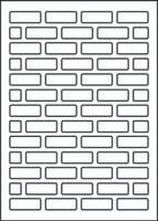 Bricks Stencil - 8x10