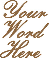 1   CUSTOM BEAUTIFUL SCRIPT CHIPBOARD WORD