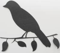 Bird on Branch - Silhouette