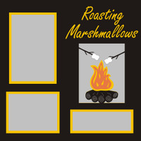 Roasting Marshmallows - 12x12 Overlay