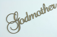Godmother - Fancy Chipboard Word