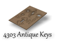 Antique Keys and Keyholes - Chipboard