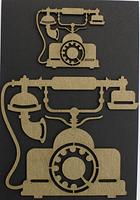 Vintage Phone - Chipboard