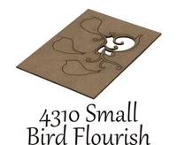 Small Bird Flourish  - Chipboard