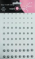 72 Count Pearls - Gun Metal