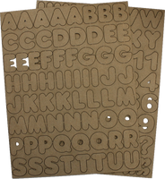 Chubba Bubba - Chipboard Alphabet