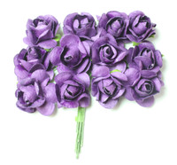 "Mulberry Paper Flowers (12 Flowers) - 5/8""  Purple"