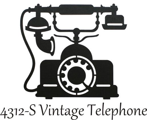 Vintage Phone Silhouette Want2scrap