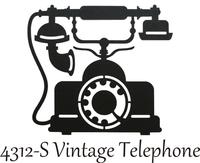 Vintage Phone  - Silhouette