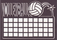 Volleyball with Net - Die Cut