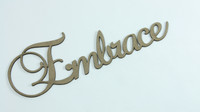 Embrace - Fancy Chipboard Word