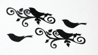 Large Bird Flourish Silhouette - Card Sized (2 Pack)