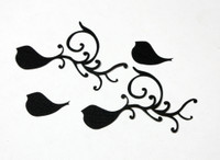 Small Bird Flourish Silhouette - Card Sized (2 Pack)