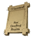 Wanted for Stealing Hearts Chipboard Album