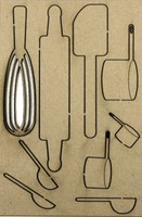 Cooking Set - Chipboard Embellishments