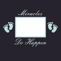 Miracles do Happen - Boy  - 12x12 Overlay