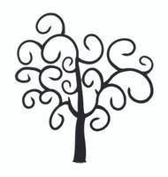 Fancy Swirls Tree Large- Silhouette