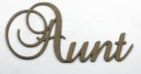 Aunt - Fancy Chipboard Word