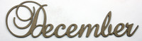 December - Fancy Chipboard Word